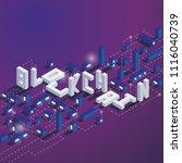 square illustration on dark... | Shutterstock .eps vector #1116040739