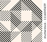 raster geometric lines pattern. ... | Shutterstock . vector #1116045659