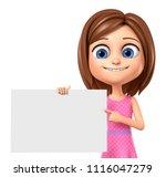 3d rendering. cheerful girl in...   Shutterstock . vector #1116047279