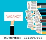applying for job  giving cv ... | Shutterstock .eps vector #1116047936