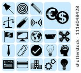 set of 22 business symbols of... | Shutterstock .eps vector #1116048428