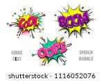 cool boom oops pop art style... | Shutterstock .eps vector #1116052076