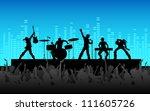 Illustration Of People Cheerin...
