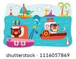 a landscape with cute little...   Shutterstock .eps vector #1116057869