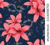 seamless pattern pink pastel... | Shutterstock .eps vector #1116058703