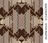elegant geometric zigzag vector ... | Shutterstock .eps vector #1116062300