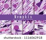 memphis seamless pattern.... | Shutterstock .eps vector #1116062918