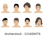 male hairstyles | Shutterstock .eps vector #111606476