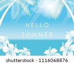 tropical resort seascape...   Shutterstock .eps vector #1116068876