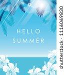 tropical resort seascape...   Shutterstock .eps vector #1116069830