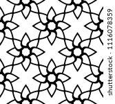 black floral ornament on white... | Shutterstock .eps vector #1116078359