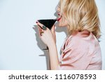 blonde caucasian woman having...   Shutterstock . vector #1116078593