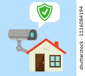 video surveillance with... | Shutterstock .eps vector #1116084194