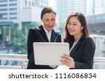 technology or business concept  ... | Shutterstock . vector #1116086834