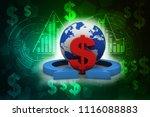 3d rendering dollar symbol on...   Shutterstock . vector #1116088883