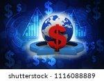 3d rendering dollar symbol on...   Shutterstock . vector #1116088889