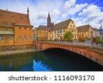 strasbourg city facades bridge... | Shutterstock . vector #1116093170