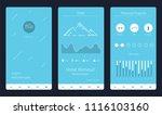 fitness application vector... | Shutterstock .eps vector #1116103160