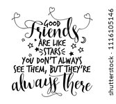 good friends are like stars ... | Shutterstock .eps vector #1116105146