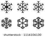 snowflakes vector symbol ... | Shutterstock .eps vector #1116106130