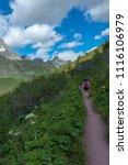 landscape of glacier national... | Shutterstock . vector #1116106979