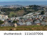 man enjoy watching view of san... | Shutterstock . vector #1116107006