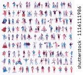 vector illustration in a flat... | Shutterstock .eps vector #1116111986