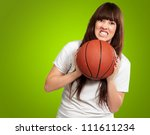 portrait of a young female with ... | Shutterstock . vector #111611234