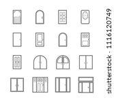 simple door icon set  basic... | Shutterstock .eps vector #1116120749