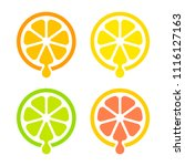 modern and simple citrus juice... | Shutterstock .eps vector #1116127163