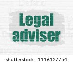 law concept  painted green text ... | Shutterstock . vector #1116127754
