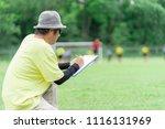 football or socker coach... | Shutterstock . vector #1116131969