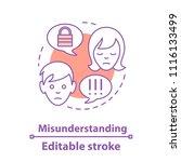 misunderstanding concept icon.... | Shutterstock .eps vector #1116133499