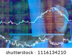 businessman on digital stock... | Shutterstock . vector #1116134210