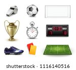 soccer football vector set of... | Shutterstock .eps vector #1116140516