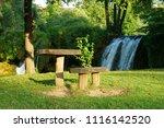 resting place at rastoke in... | Shutterstock . vector #1116142520
