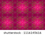 golden floral seamless pattern. ... | Shutterstock . vector #1116145616