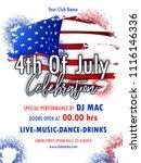 invitation flyer for 4th of... | Shutterstock .eps vector #1116146336