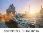 the tower bridge in london  the ... | Shutterstock . vector #1116150416