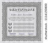 grey certificate of achievement.... | Shutterstock .eps vector #1116150800