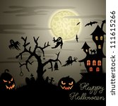 happy halloween greeting card... | Shutterstock .eps vector #111615266