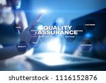 quality assurance concept on... | Shutterstock . vector #1116152876
