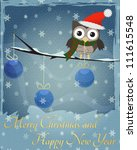 Owl Marry Christmas And Happy...