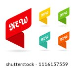 new tag ribbon and banner... | Shutterstock .eps vector #1116157559