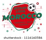 speech bubble morocco with icon ... | Shutterstock .eps vector #1116160586