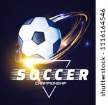 soccer ball with light effects. ... | Shutterstock .eps vector #1116164546