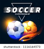 soccer competition label design ... | Shutterstock .eps vector #1116164573