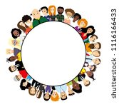 round frame with different... | Shutterstock .eps vector #1116166433