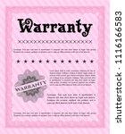 pink warranty. with complex...   Shutterstock .eps vector #1116166583