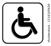 disabled wheelchair icon ... | Shutterstock .eps vector #1116169634